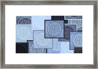 Oreo Negative Hope Collage 3 Cyan Framed Print by Rob Hans