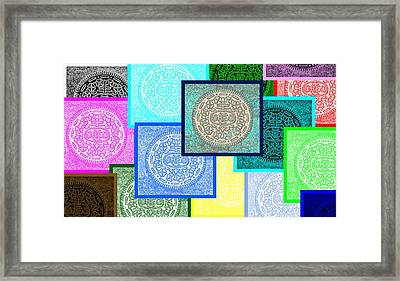 Oreo Negative Hope Collage 3 Framed Print by Rob Hans
