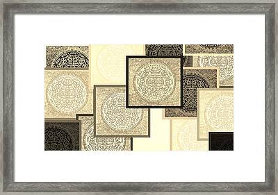 Oreo Negative Hope Collage 3 Sepia Framed Print by Rob Hans