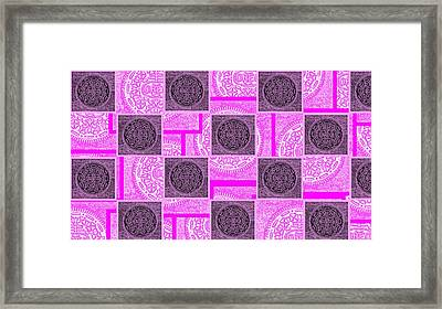 Oreo Pink Checker Board For The Cure Framed Print by Rob Hans