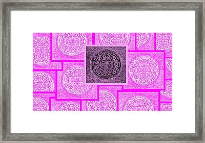 Oreo Pink Squared Framed Print by Rob Hans