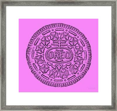 Anna's Pink Oreo For The Cure Framed Print by Rob Hans