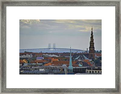 Oresund Bridge Framed Print
