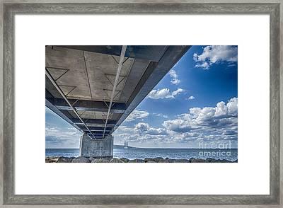 Oresundsbron Hdr Framed Print by Antony McAulay
