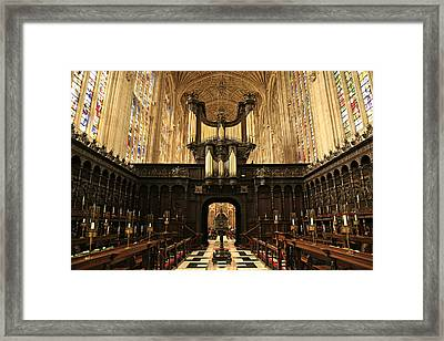 Organ And Choir - King's College Chapel Framed Print by Stephen Stookey