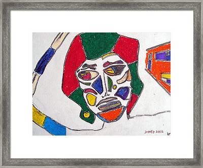 Organ Donation Face Part One 2012 Framed Print