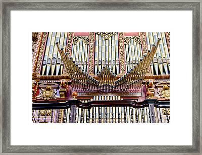 Organ In Cordoba Cathedral Framed Print by Artur Bogacki