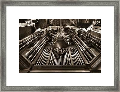 Organ In Sepia Framed Print