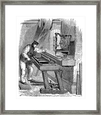 Organ Keyboard Production Framed Print by Science Photo Library