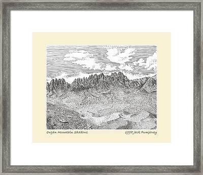 Organ Mountain Shadows Framed Print by Jack Pumphrey