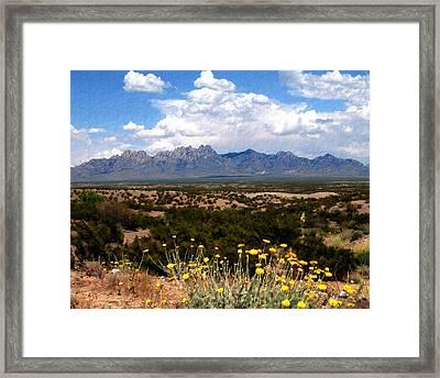 Organ Mountain Splendor Framed Print by Kurt Van Wagner