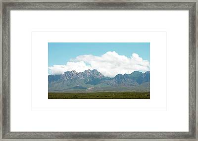 Organ Mountains After The Monsoon Framed Print by Jack Pumphrey