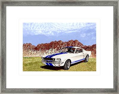 Organ Mountains And 1965 Mustang Framed Print