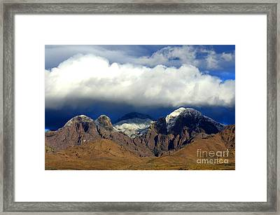 Organ Mountains Beauty Of Clouds Framed Print by Bob Christopher