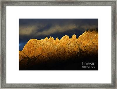 Organ Mountains Magical Light Framed Print by Bob Christopher