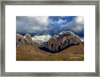 Organ Mountains Rugged Beauty Framed Print by Bob Christopher