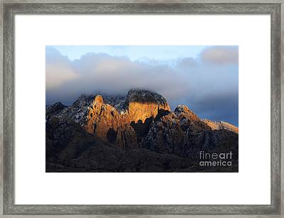 Organ Mountains Sacred  Earth Framed Print by Bob Christopher