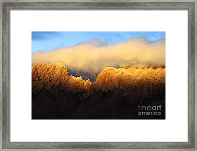 Organ Mountains Symphony Of Light Framed Print