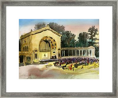 Organ Pavilion Sunset Framed Print