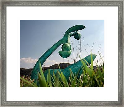 Organic 4 Framed Print by Flow Fitzgerald