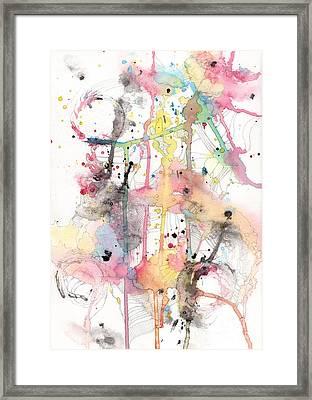 Organic Clash Framed Print