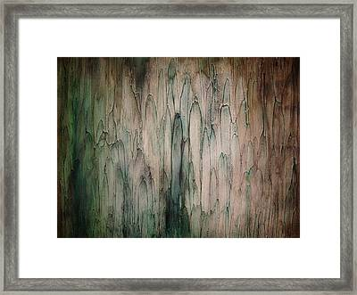 Organic Greens Framed Print