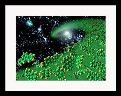 Organic Molecule Framed Prints