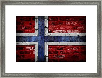 Organic Norway Flag Framed Print