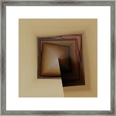 Organic Square Framed Print
