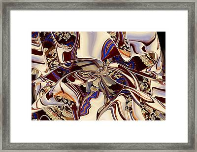 Organic Web - Fine Art Digital Abstract - Rd Framed Print