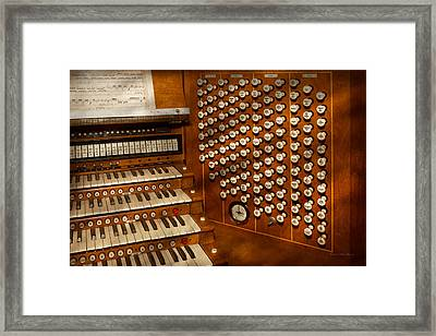 Organist - Ready At The Controls Framed Print by Mike Savad