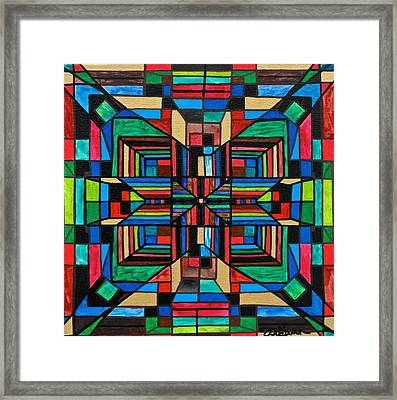 Organization Framed Print by Teal Eye  Print Store
