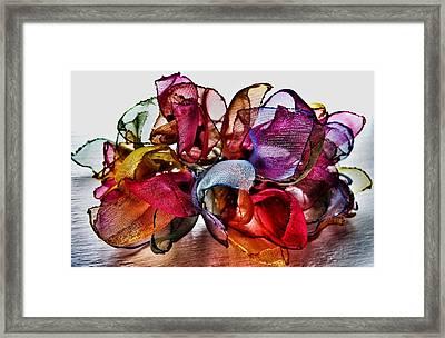 Organza Petals Framed Print by Marianna Mills