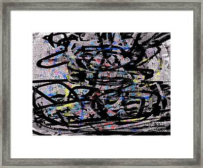 Orgy Of Lust Framed Print by J Burns