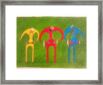 Oricha's Drummers Framed Print by Idael  Sotomayor