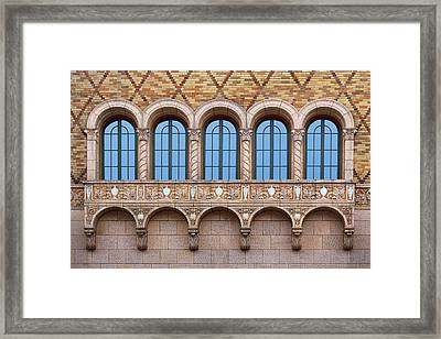 Oriel Windows - The Rose - Omaha Framed Print by Nikolyn McDonald