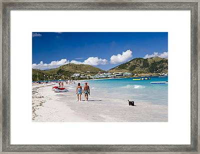 Orient Beach In St Martin Fwi Framed Print by David Smith