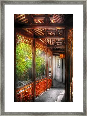 Orient - Continue On Framed Print by Mike Savad