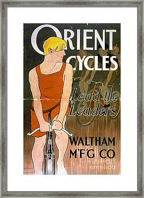 Orient Cycles Vintage Bicycle Poster Framed Print