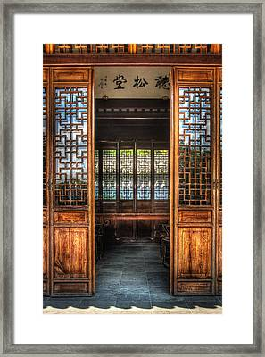 Orient - Door - The Temple Doors Framed Print by Mike Savad