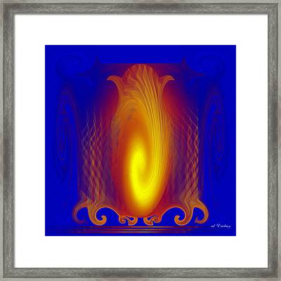 Framed Print featuring the digital art Orient - Four Hour Light by rd Erickson