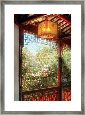 Orient - Lamp - Simply Chinese Framed Print by Mike Savad