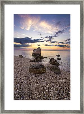 Orient Point Calm Framed Print