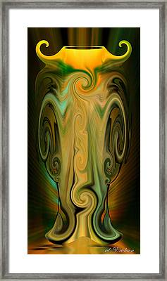 Framed Print featuring the digital art Orient - The Jar by rd Erickson