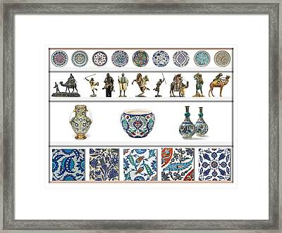 Oriental Ceramics Pottery And Bronze Art Collection Framed Print by Celestial Images