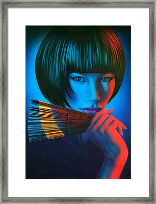 Oriental Gold Framed Print by Andrew Farley