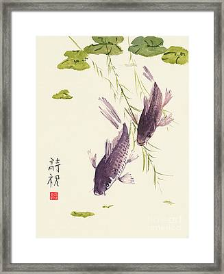 Framed Print featuring the painting Oriental Koi IIi by Sandy Linden