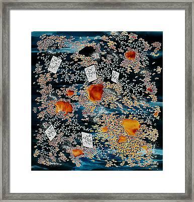 Oriental Moonlight Framed Print by Carolyn Doe