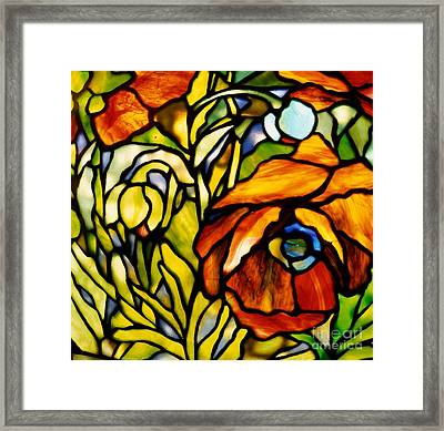 Oriental Poppy Framed Print by Tiffany Studios