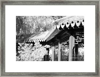 Framed Print featuring the photograph Oriental Roof #2 by George Mount